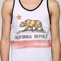 California Republic Tank Top- White