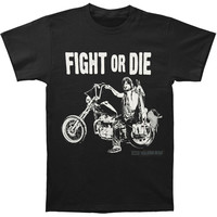 Walking Dead Men's  Fight Or Die T-shirt Black Rockabilia