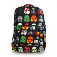 LOUNGEFLY STAR WARS MULTI COLOR STORMTROOPER BACKPACK