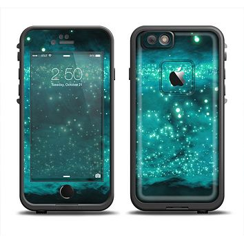 The Trendy Green Space Surface Apple iPhone 6 LifeProof Fre Case Skin Set