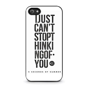 5 SECONDS OF SUMMER 6 5SOS iPhone 5 / 5S / SE Case Cover