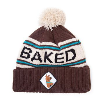 Scooby Doo Baked logo new Official Brown Beanie bobble Hat