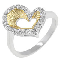 Two-tone Heart Ring
