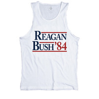 Reagan Bush '84 Tank Top - White | Rowdy Gentleman
