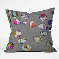 Natalie Baca Circles At Twilight Throw Pillow