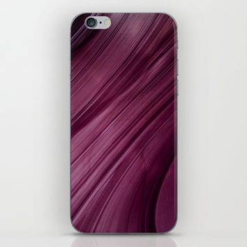 Purple Waves iPhone & iPod Skin by VanessaGF