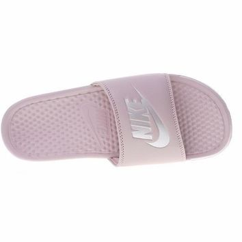 Nike Benassi Just Do It Beach Slipper Sandals Pink 343881-614 4a516d60f2