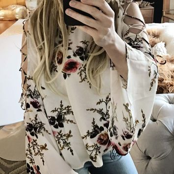 Indian Rose Top in White