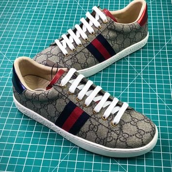 Gucci Ace Embroidered Low Top Sneakers Style 7 - Best Online Sale