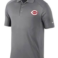 Nike Cincinnati Reds Mens Gray Victory Short Sleeve Polo