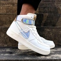 """NIKE AirForce 1 High """"Nai Ke""""THE BUND  Jester  Men's and women's sneakers in high and middle class"""