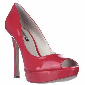 BCBGeneration Sasha Peep-Toe Platform Pumps - Passion