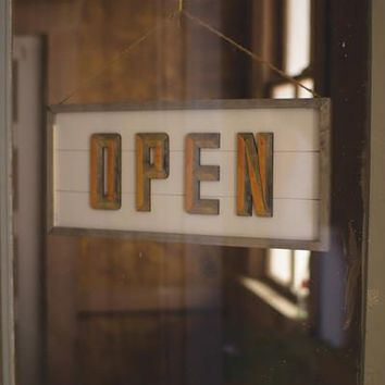Wooden Open/Closed Sign