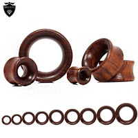 New Fashion Ear Stretchers Plugs and Tunnels Hollow Wood Flesh Ear Saddles Gauges and Expanders Earrings Body Piercing Jewelry