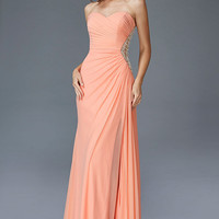 G2073 Chiffon Jeweled Side Panel Prom Dress Mother of Bride or Bridesmaid