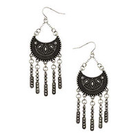 Drop Earrings - Silver