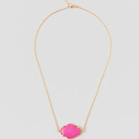 Rosette Necklace In Pink