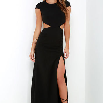Conversation Piece Black Backless Maxi Dress
