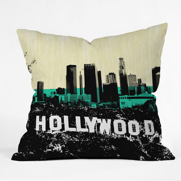 Amy Smith Only In Hollywood Outdoor Throw Pillow