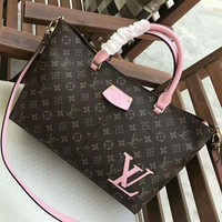 Kalete LV Letters Women Shopping Leather Tote Crossbody Satchel Shoulder Bag H-AGG-CZDL