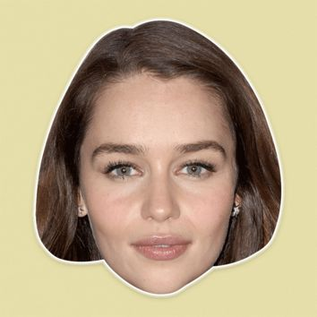 Sad Emilia Clarke Mask - Perfect for Halloween, Costume Party Mask, Masquerades, Parties, Festivals, Concerts - Jumbo Size Waterproof Laminated Mask