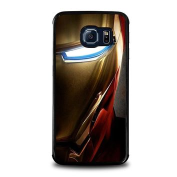 iron man face samsung galaxy s6 edge case cover  number 1