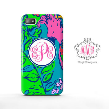 Shake Your Tailfeather Lilly Pulitzer Monogram Blackberry Case Z10, BB Q10 Case