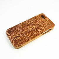 Generic Cell Phone Case for iPhone 5 iPhone 5s Poker Face Cherry Wood