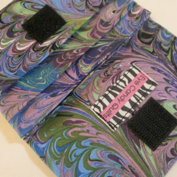 Blue & Purple Swirl Women's Wallet, OOaK Wallet for Women, Credit Card Wallet, Small Wallet, LIMITED EDITION