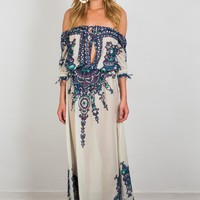 Soah Off Shoulder Maxi Dress - Opheliah