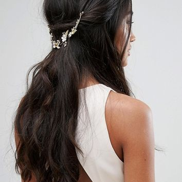 Johnny Loves Rosie Bridal Range Gold Leaf and Diamante Headpiece at asos.com