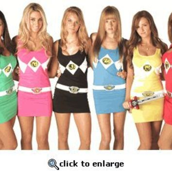 The Power Rangers Sexy Tunic Tank Dresses - Power Rangers - Free Shipping on orders over $60 | TV Store Online