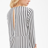 Striped Cutout-Back Top