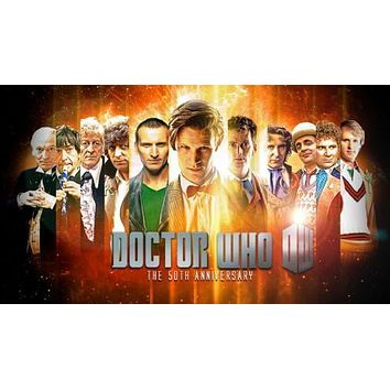 Doctor Who The 50Th Anniversary All Doctors Movie poster Metal Sign Wall Art 8in x 12in