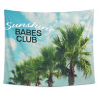 Sunshine Babes Club Wall Tapestry