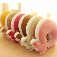 Novelty Squirrel Animal Cotton U Shape Neck Pillow Travel Car Home Pillow Nap Pillow Retail