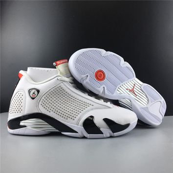 Supreme x Air Jordan 14 White/Black/Red BV7630-106