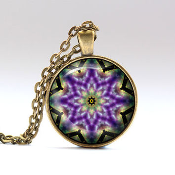 Colorful jewelry Buddhist pendant Hippie necklace OWA390