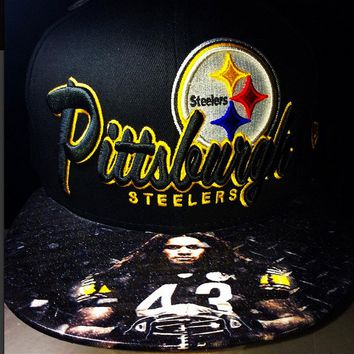 Pittsburgh Steelers Authentic New Era Snapback or Fitted with 43 custom