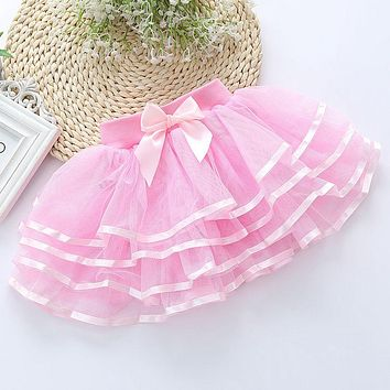 Girls  Skirts Mesh Layered Skirts For Girls Children Clothing Princess Party Tulle Skirts Girls Dance Wear