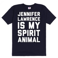 Jennifer Lawrence Is My Spirit Animal-Unisex Navy T-Shirt