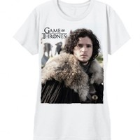 The Game of Thrones Jon Snow Juniors White T-Shirt