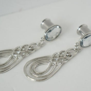 Formal Dangle Plugs Gauges Available in 8g, 6g, 4g, 2g, 0g
