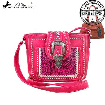 MW246G-8287 Montana West Concealed Handgun Collection Crossbody Bag