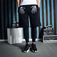 Hip-hop Summer Sea Knit Cotton Pants Beach Shorts [6541176003]