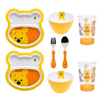 Big Face Winnie the Pooh Eight-Piece Mealtime Set | zulily