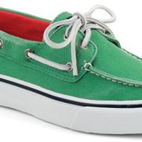 Sperry Top-Sider Bahama Salt Washed 2-Eye Boat Shoe GreenSaltWashedCanvas, Size 11M  Men's Shoes