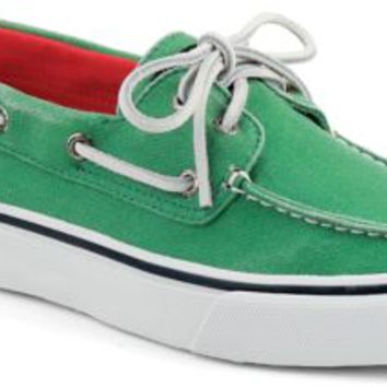 Sperry Top-Sider Bahama Salt Washed 2-Eye Boat Shoe GreenSaltWashedCanvas, Size 8.5M  Men's Shoes