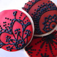Valentine's Black Lace Cookies by thePieceDeResistance on Etsy