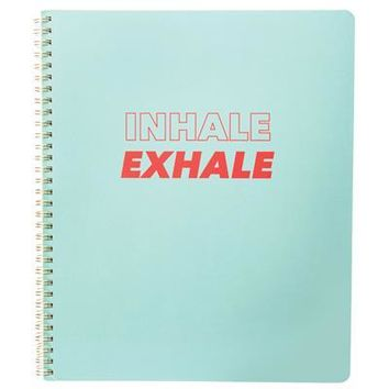 Inhale Exhale Large Spiral Notebook
